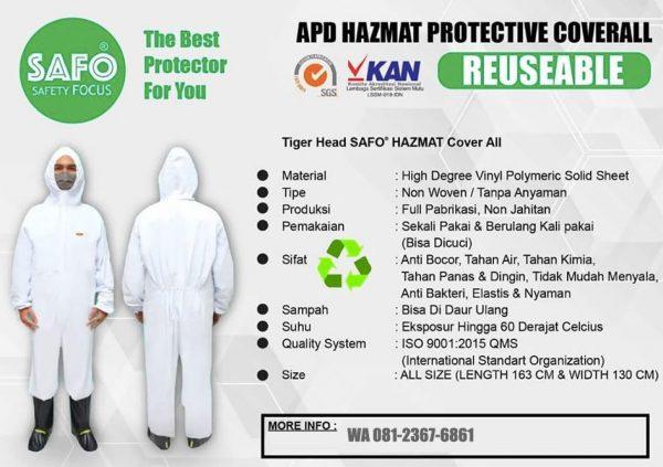 SAFO Baju APD Hazmat Suit Indonesia